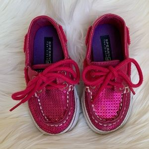 Pink Sequin Sperry Shoes Baby Toddler Girl Size 6